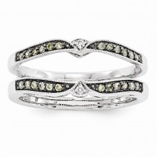 14k White Gold Brown & White Diamond Guard
