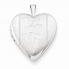 Sterling Silver 20mm with LOVE Heart Locket
