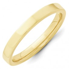 10KY 3mm Standard Flat Comfort Fit Band Size 10