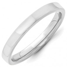 14KW 3mm Standard Flat Comfort Fit Band Size 10